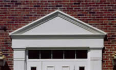 aluminum door or window pediment